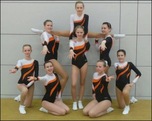 Das Riesaer Aerobic-Team beim Feen-Pokal (Foto: R. Fleck)